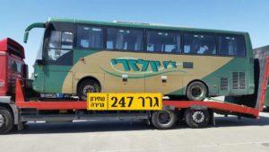 גרר 247 גרר יוסי בן גיגי גרירת אוטובוס
